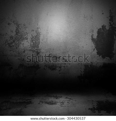 Dark room with  floor and wall background - stock photo