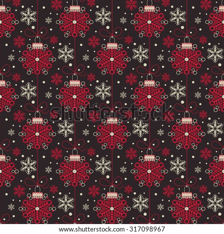 dark seamless pattern wallpaper christmas card xmas balls background holiday wallpaper christmas background christmas day christmas card christmas ornament - stock photo