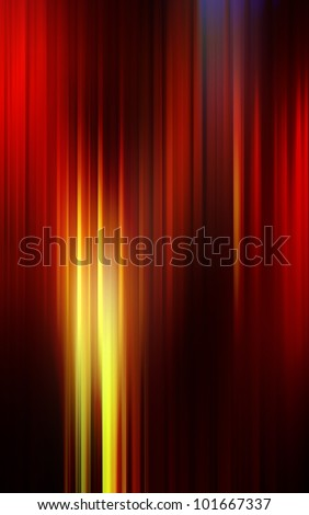 Dark shiny abstract background made of stripes in red and yellow colors. - stock photo
