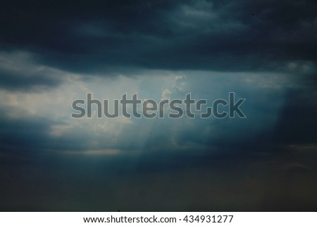 dark sky - stock photo