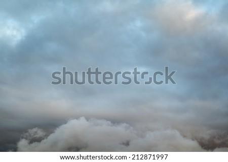 Dark Sky Dramatic Clouds - stock photo
