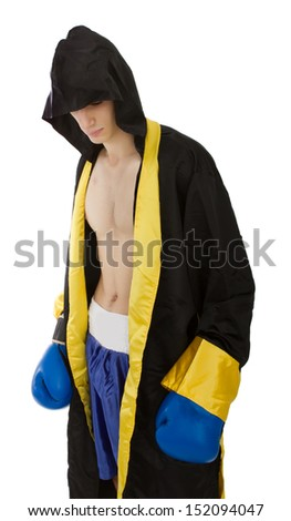 dark sport wear for a boxer - stock photo