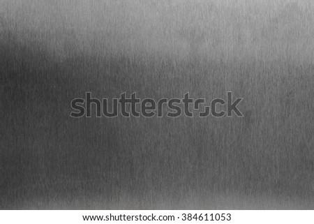 Dark stainless steel surface - stock photo
