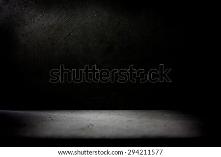 Dark stone wall and floor. - stock photo
