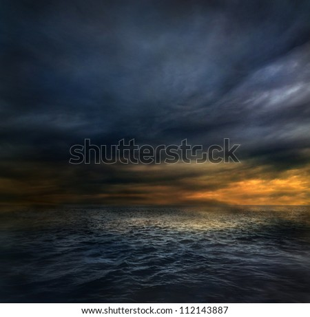 Dark storm - stock photo