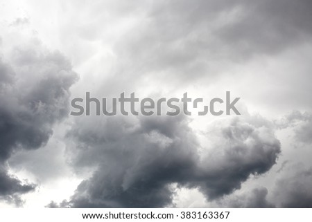 Dark stormy sky with clouds. Nature background - stock photo