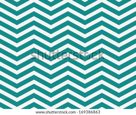 Dark Teal and White Zigzag Textured Fabric Background that is seamless and repeats - stock photo