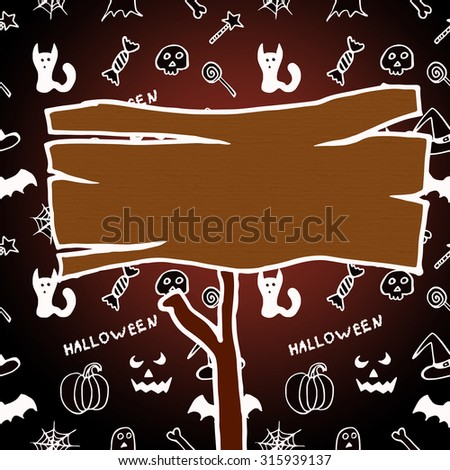 Dark texture for Halloween with a pointer  - stock photo