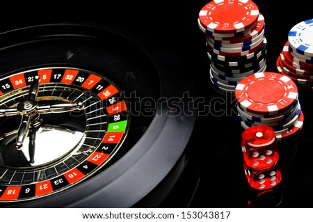 Dark theme of gambling games - stock photo