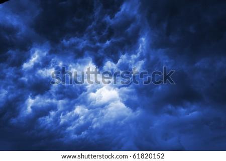 Dark thunderclouds - stock photo