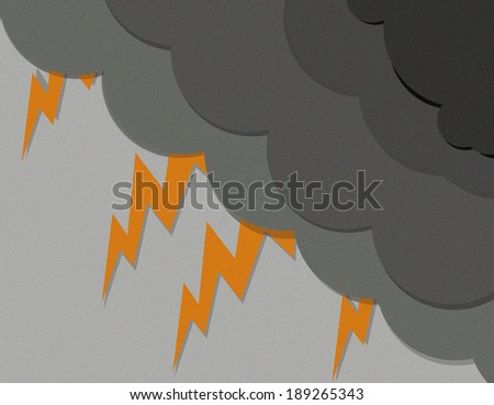 Dark thunderstorm with lightening - stock photo