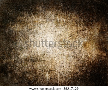 dark vintage brown textured surface - stock photo