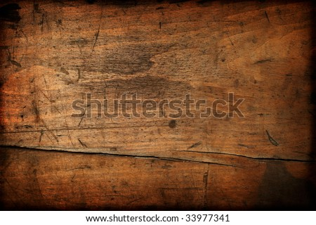 Dark vintage wood texture - stock photo
