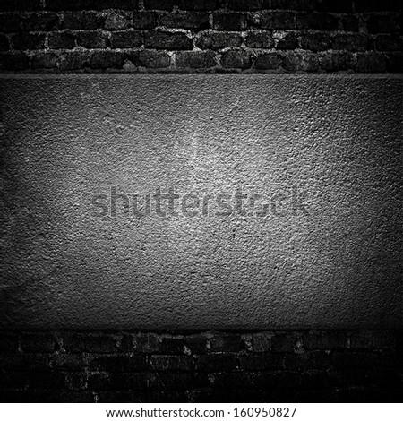 dark wall background - stock photo