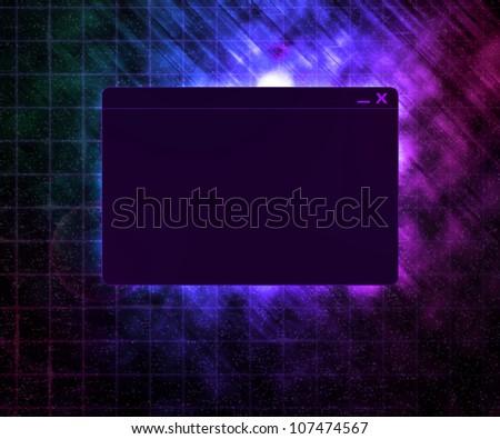 Dark Window Technology Concept Background - stock photo