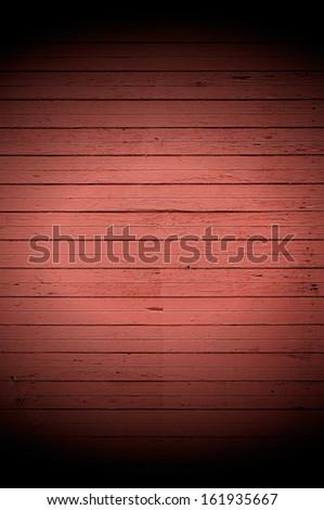 Dark Wood Background With Spotlight - stock photo