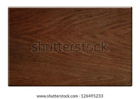 Dark wood plate isolated with clipping path included - stock photo