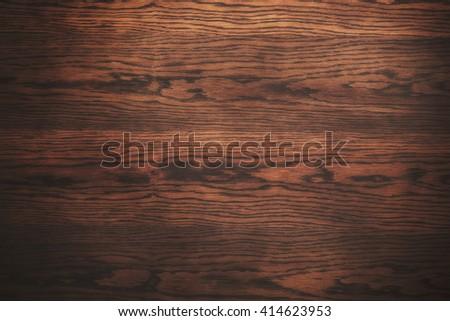 dark wooden texture. desk detail. - stock photo