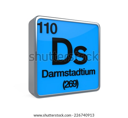 Darmstadtium Element Periodic Table - stock photoDarmstadtium Element