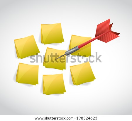 dart and post selection illustration design over a white background - stock photo