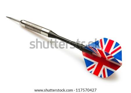 dart arrow on white background - stock photo