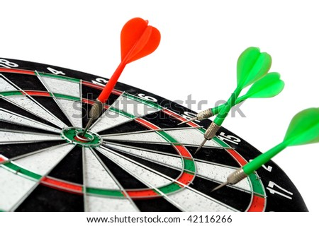 dart hit mark - stock photo