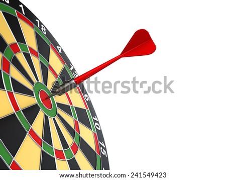 dart on target - stock photo