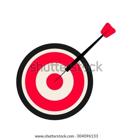 Dartboard and darts - stock photo