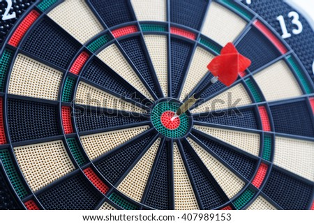 dartboard bullseye - Hit the nail on the head - Sport and Leisure game - stock photo