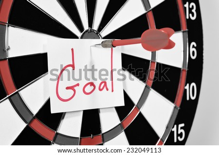 Dartboard for set goal concept. - stock photo