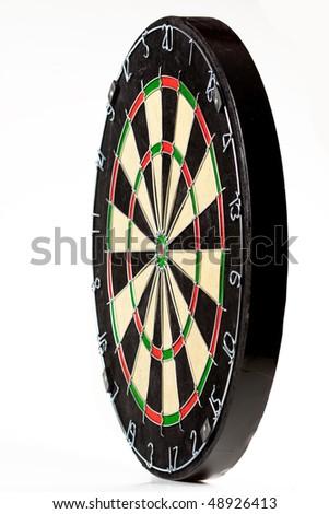 dartboard isolated on white - stock photo