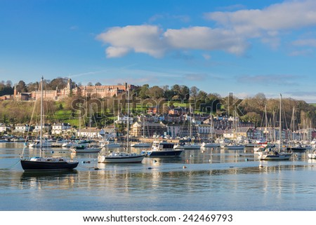 Dartmouth  from Kingswear - stock photo