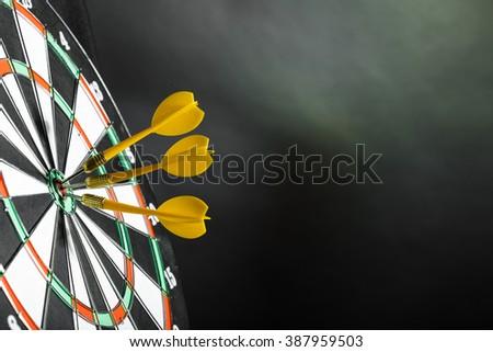 Darts board close up - stock photo