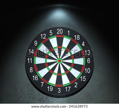 Darts board on the wall - stock photo