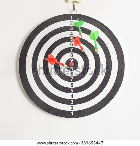 Darts projection - stock photo