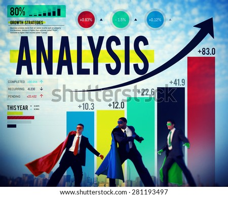 Data Analysis Business Graph Chart Critical Thinking Concept - stock photo