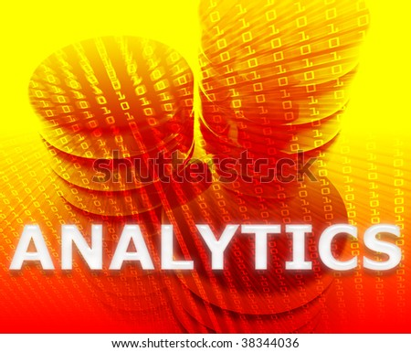Data analytics abstract, computer technology information concept illustration - stock photo