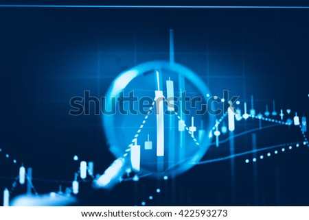 Data analyzing from charts and graph to find out the result in trading market. Working set for analyzing financial statistics and analyzing a market data. from charts and graph to find out the result - stock photo