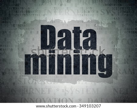 Data concept: Painted black text Data Mining on Digital Paper background with   Tag Cloud - stock photo