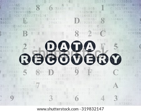 Data concept: Painted black text Data Recovery on Digital Paper background with Hexadecimal Code - stock photo