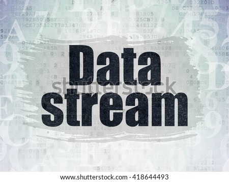 Data concept: Painted black text Data Stream on Digital Data Paper background with   Hexadecimal Code - stock photo