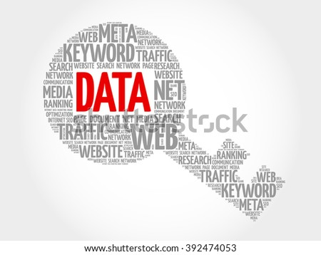DATA Key word cloud, business concept - stock photo