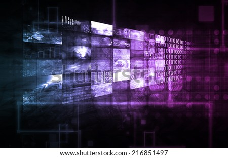 Data Management Technology and Big Data as Art - stock photo
