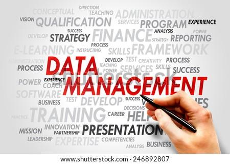 Data Management word cloud, business concept - stock photo