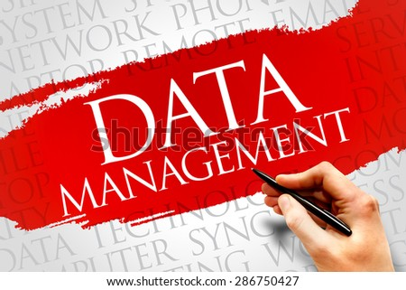 Data Management word cloud concept - stock photo