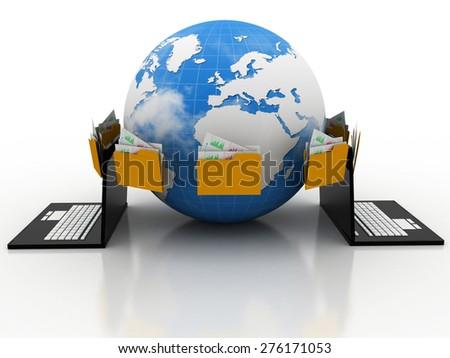data network - stock photo