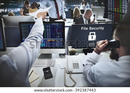 Data Privacy Encrypted Online Security Protection Concept - stock photo