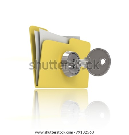 Data protection. Concept. 3d illustration - stock photo