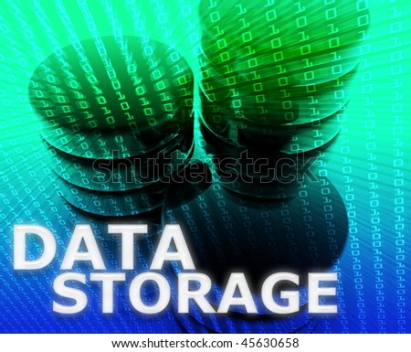 Data storage abstract, computer technology information concept illustration - stock photo
