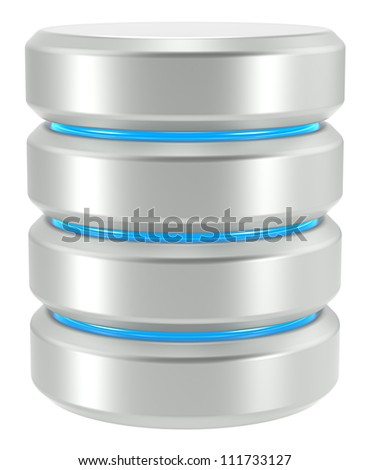 Database. Abstract Database Icon. Isolated on White background. - stock photo
